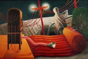 Noche roja 2012- Óleo-lienzo 140 x 212 cm