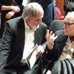 Helmut Lachenmann und Ennio Morricone in der Sala Santa Cecilia