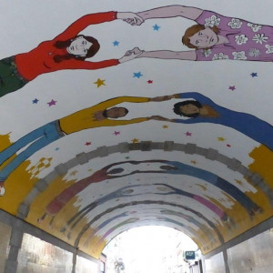 Tunnelmalerei in den Marolles